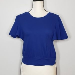 ABOUND NWT blue short bell sleeve top size S
